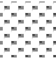 American flag pattern simple style vector