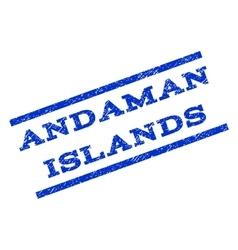 Andaman Islands Watermark Stamp vector image