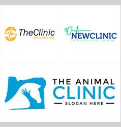 Animal horse clinic icon logo vector