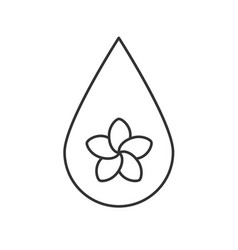 Aromatherapy oil drop linear icon vector