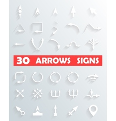 arrows Signs and Icons vector image