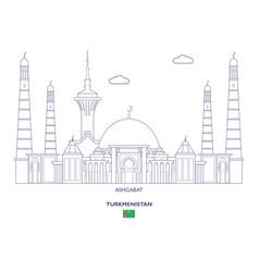 Ashgabat city skyline vector