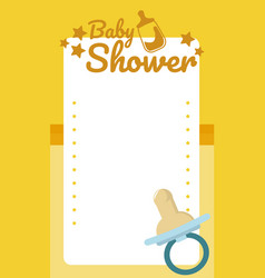 Baby shower blank card vector