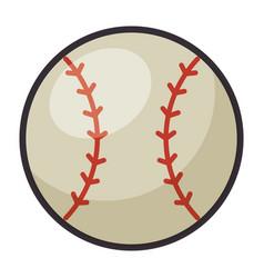baseball ball emblem icon vector image