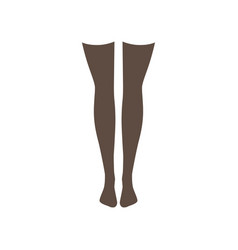 black stockings on a white vector image
