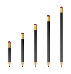 Black wooden sharp pencils vector image