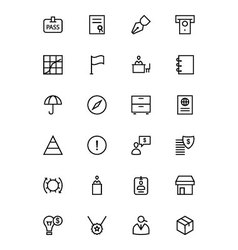 Business and Finance Line Icons 4 vector image