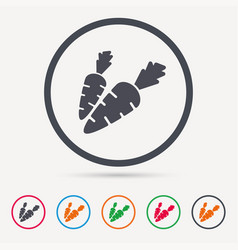 Carrot icon natural vegetable sign vector