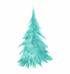 Christmas tree as symbol happy new year merry vector