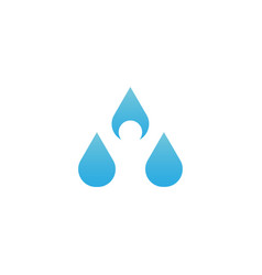 clean and simple water drop with human in vector image