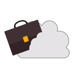 Cloud with briefcase icon vector