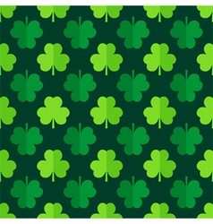Clover shamrock leaves seamless pattern vector image