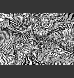 Coloring page abstract pattern maze line of vector