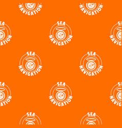 compass pattern orange vector image