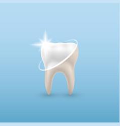 Concept healthy tooth dental examination vector