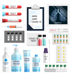 covid19-19 test kit vector image