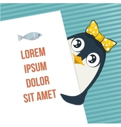 Cute penguin vector image vector image
