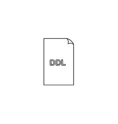 Ddl file icon vector