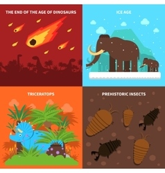 Dinosaurs Concept Set vector image