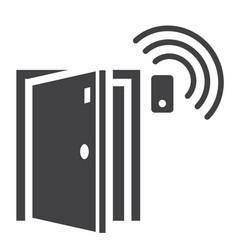 Door sensor solid icon security and alarm vector