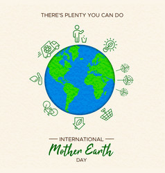 Earth day of eco friendly activities vector