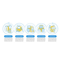 education system infographic template school vector image