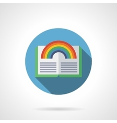 Fantasy stories flat round icon vector image
