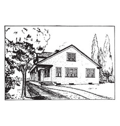 Farmhouse is serves as the primary residence vector
