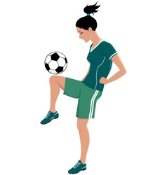 Female football player vector
