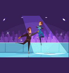 Figure skating composition vector