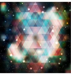 Galaxy background of triangle shapes vector