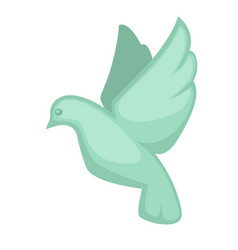 Glass dove souvenir toy symbol in flat design vector
