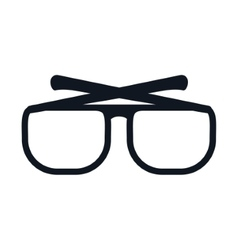 glasses optical style vector image