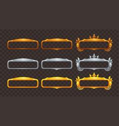 Golden silver and bronze frames set vector