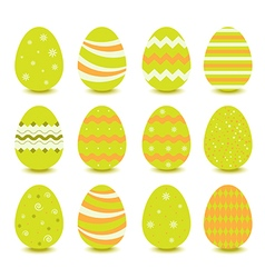 green easter egg vector image