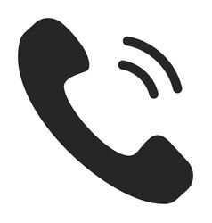 handset black icon part a telephone vector image