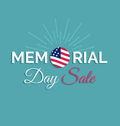 Happy memorial day sale cardnational vector