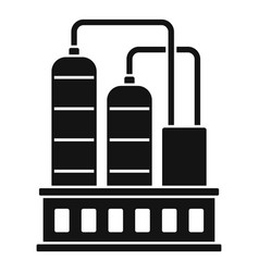 Industrial refinery factory icon simple style vector
