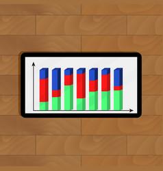 Infochart on tablet vector
