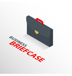 Isometric business briefcase icon isolated 3 d vector