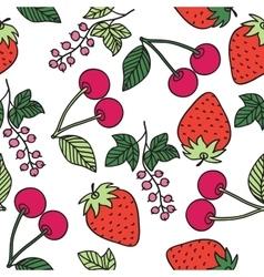Juicy berries seamless pattern vector image