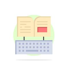 Key keyboard book facebook abstract circle vector