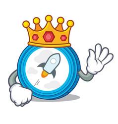 King stellar coin character cartoon vector