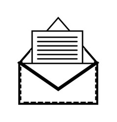 Line e-mail letter message with business document vector