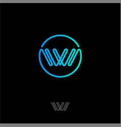 Logo w monogram vector