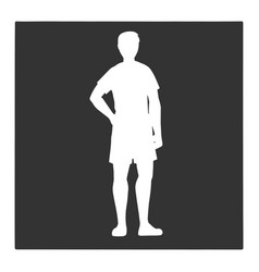 Man silhouette on black background vector