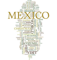 Mexico text background word cloud concept vector
