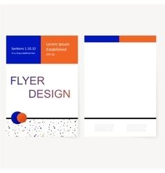 modern flyer vector image
