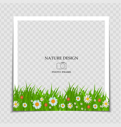 Natural background photo frame template vector