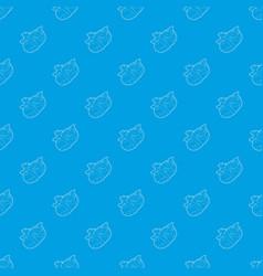 Newborn baby pattern seamless blue vector